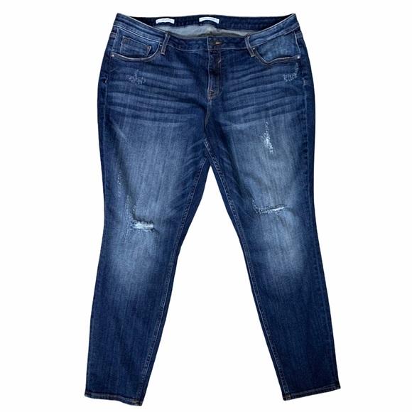 Vigoss dark wash distressed Jagger Skinny jeans
